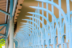 Staket som göras av stål Royaltyfri Foto