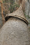 Staket som göras av slank bambu för att fiska Arkivbild