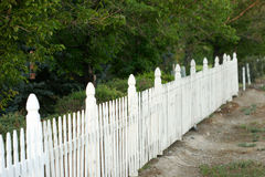 staket som receding arkivfoton