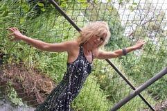 staket som rymmer sexig elasticitet Royaltyfria Bilder