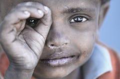 从Stakmo村庄的可怜的孩子 Leh,拉达克 印度 库存照片
