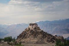 Stakna-Kloster, Leh Ladakh Licht und Schatten vom Sonnenlicht Lizenzfreie Stockfotos