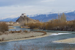 Stakna kloster, vintertid Arkivfoton