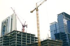 Stal i szkło - budowy śródmieście Zdjęcia Stock