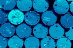 Stal lufowy zbiornik lub nafcianego paliwa toksyczna substancja chemiczna beczkujemy Zdjęcie Stock