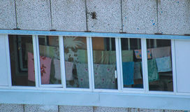 Stal Nierdzewna balkonowy poręcz Obraz Stock