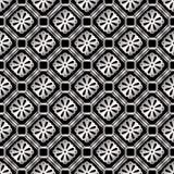 Stal nierdzewna bezszwowy geometryczny retro wzór dla projekta Zdjęcia Stock