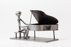 Stal nierdzewna jazzu pianino Zdjęcia Royalty Free