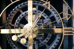 Stal zegaru szczegół, ortogonalny widok Obraz Royalty Free