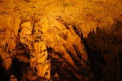 Stalactieten, stalagmieten Stock Foto