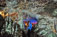 Stalactite cave. Nice view to stalactite cave, Mallorca, Spain Stock Images