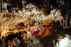 Stalactite cave. Nice view to stalactite cave, Mallorca, Spain Royalty Free Stock Photography