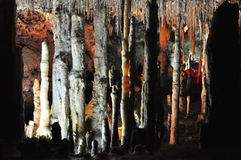 Stalactite cave. Nice view to stalactite cave, Mallorca, Spain Royalty Free Stock Photo