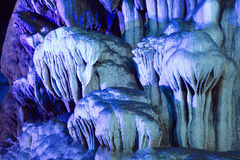 Stalactite grotto Royalty Free Stock Images