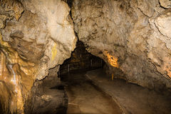 Stalactite natural underground cave, Demanovska, Slovakia Royalty Free Stock Photo