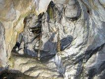 Stalactite and stalagmite cave, Slovakia Stock Photos