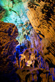 Stalactite and Stalagmite Formations Stock Photography
