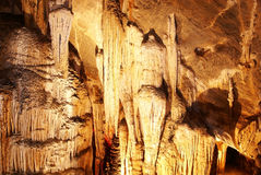 Stalactite and stone fall Stock Photography