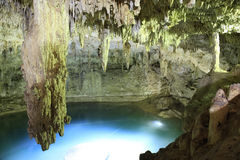 Stalactite at the Suytan Cenote in Mexico Stock Photos