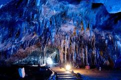 Stalactite wall in Kao Bin caves Royalty Free Stock Photo