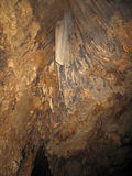 Stalactites in the Barton Creek Cave, Belize stock photo