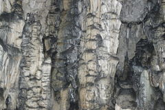 Stalactites in the cave Tictactoe Stock Photo
