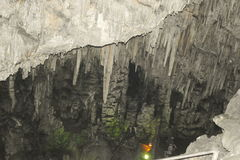 Stalactites in the cave Tictactoe Stock Photos