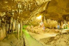 Stalactites de caverne Photo libre de droits
