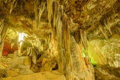 Stalactites de caverne Photographie stock libre de droits