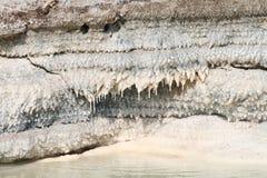 Stalactites de sel, mer morte, Jordanie Image libre de droits