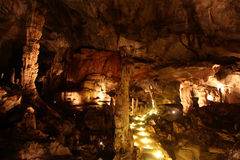 Stalactites e formazioni della caverna Immagini Stock Libere da Diritti