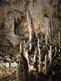 Stalactites e stalagmites fotografie stock