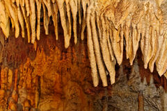 Stalactites forming. Stalactites forming in a Slovakia cave stock images