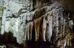 stalactites Hol Emine Bair Khosar in de Krim royalty-vrije stock afbeelding