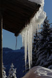 Stalactites of ice royalty free stock image