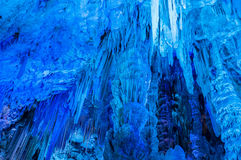 Stalactites inside the cave in Gibraltar Stock Image