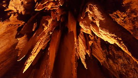 Stalactites in Luray Caverns, Virginia stock image
