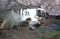 Stalactites och stalagmites Royaltyfria Foton