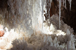 Stalactites  at   salt cave Stock Images