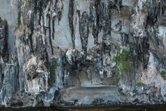 The stalactites in the sea. N Stock Image
