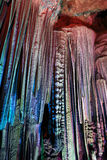 Stalactites in the silver cave. Guilin,China Stock Photography