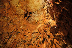 Stalactites and stalagmites in a cave Stock Photos