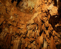 Stalactites and stalagmites in a cave Royalty Free Stock Photography