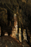 In the cave. Stalactites and stalagmites in cave Snejanka (Snow white) in Bulgaria Stock Photo