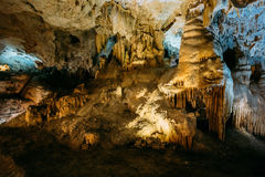 Stalactites and stalagmites in the famous Nerja Stock Image
