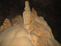 Stalactites and stalagmites underground world Stock Photo