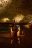 stalactitesstalagmites Arkivfoto