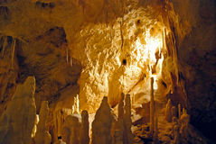 Stalagmite in cave Stock Images
