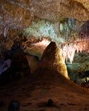 stalagmite de flowstone de cavernes de carlsbad grand Image libre de droits