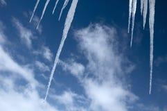 Stalagmite del ghiaccio Fotografia Stock